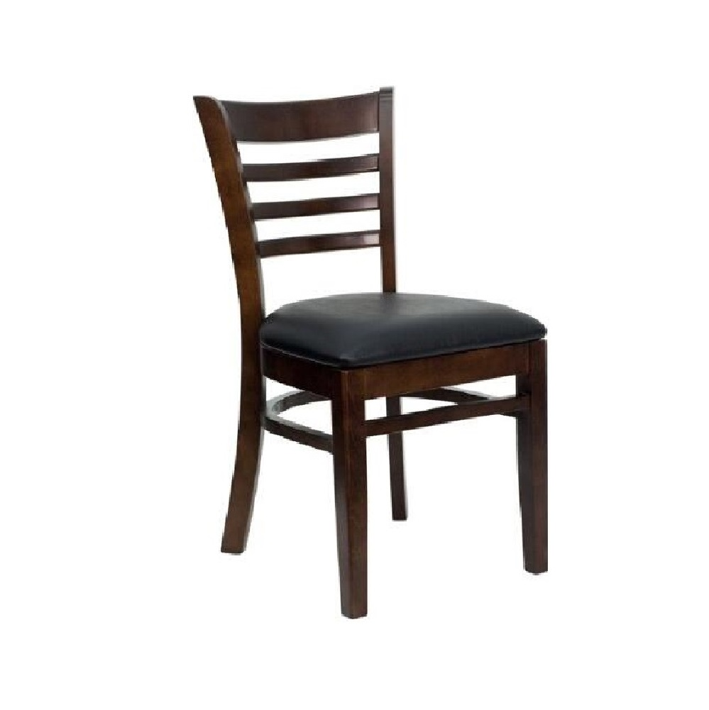 LEATHER RESTAURANT CHAIRS 0069 WALNUT