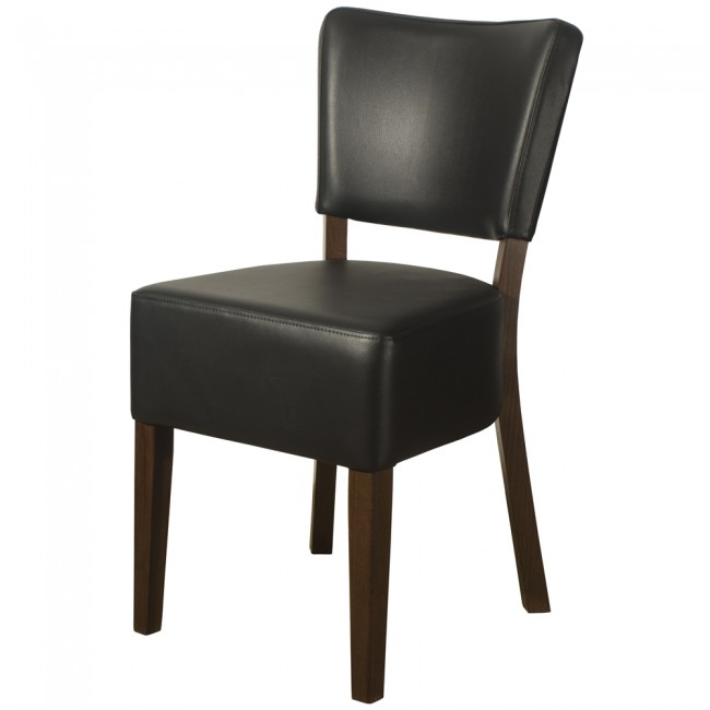 LEATHER RESTAURANT CHAIRS BLACK 1970