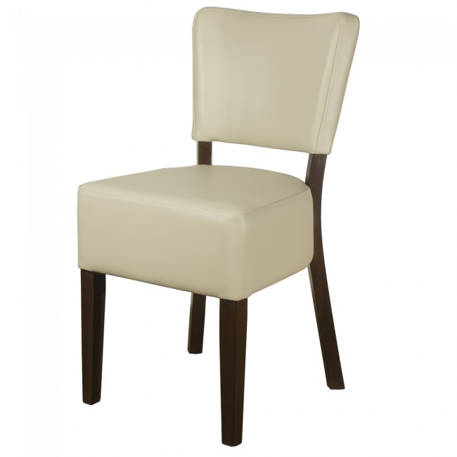 RESTAURANT LEATHER CHAIRS IVORY / CREAM 1970