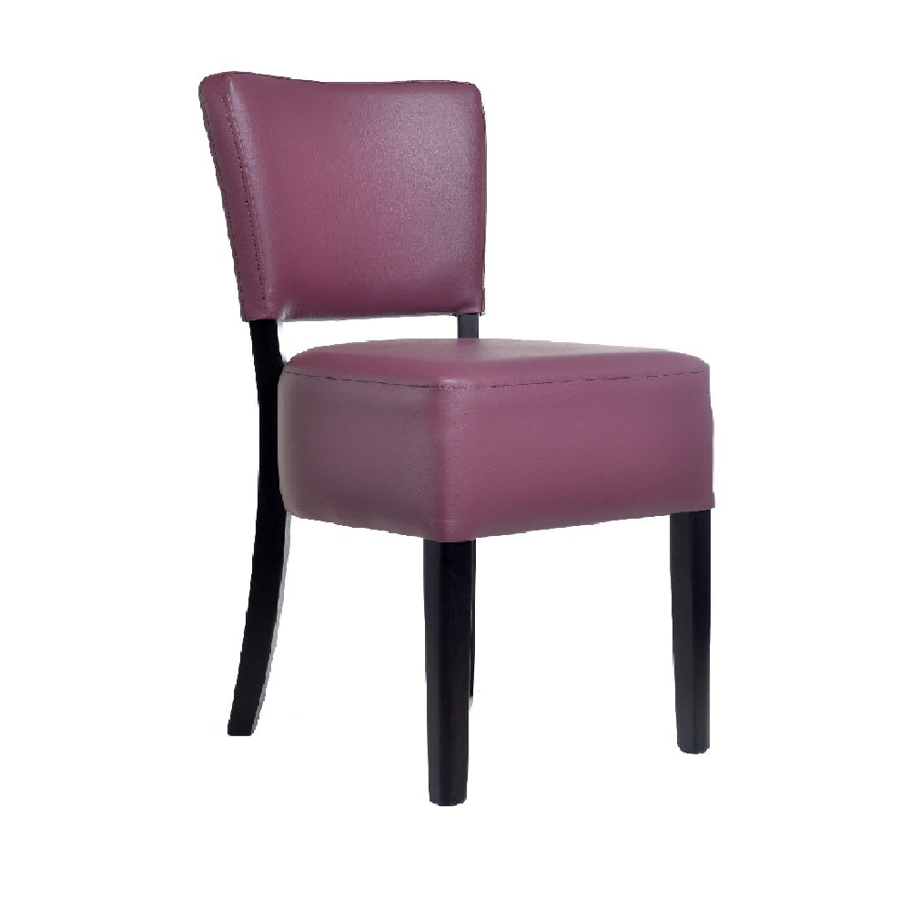 RESTAURANT LEATHER CHAIRS PLUM 1970