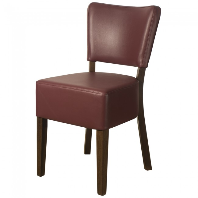 LEATHER RESTAURANT CHAIRS WINE / BURGUNDY 1970
