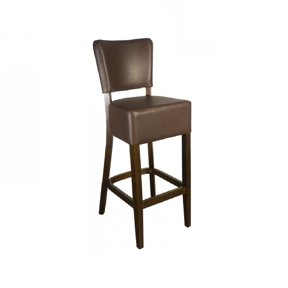 RESTAURANT LEATHER BAR STOOL BROWN 1971