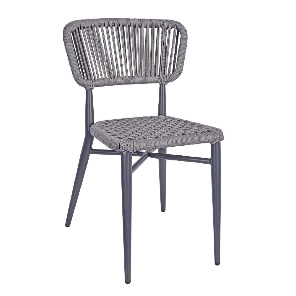 OUTDOOR FURNITURE ALUMINIUM CHAIR WITH ROPE EFFECT MODEL 2135