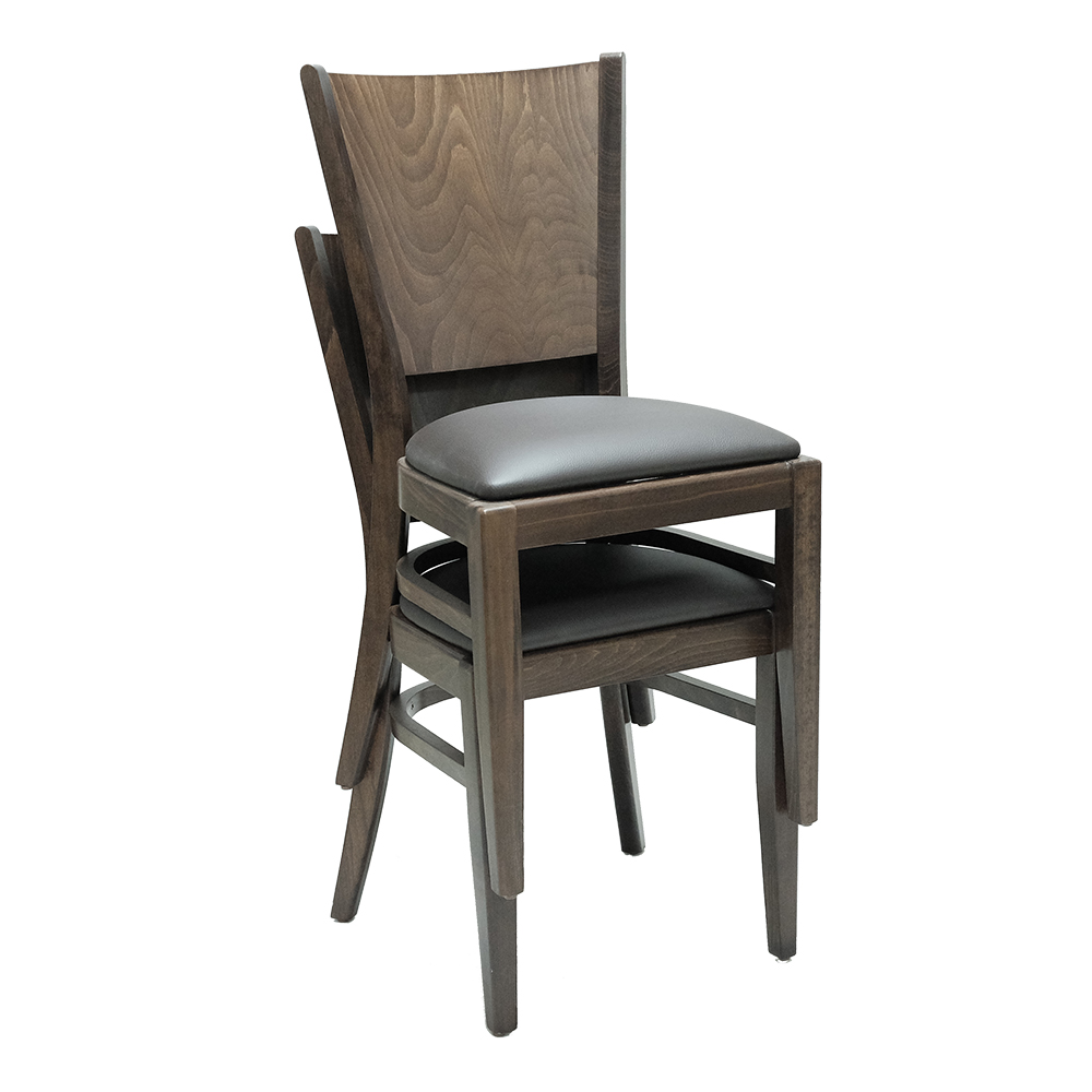 RESTAURANT LEATHER CHAIRS MODEL 2225 STACKABLE