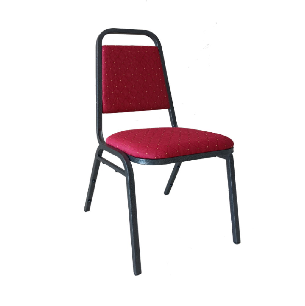 BANQUETING CHAIR STEEL FRAME 2525 RED