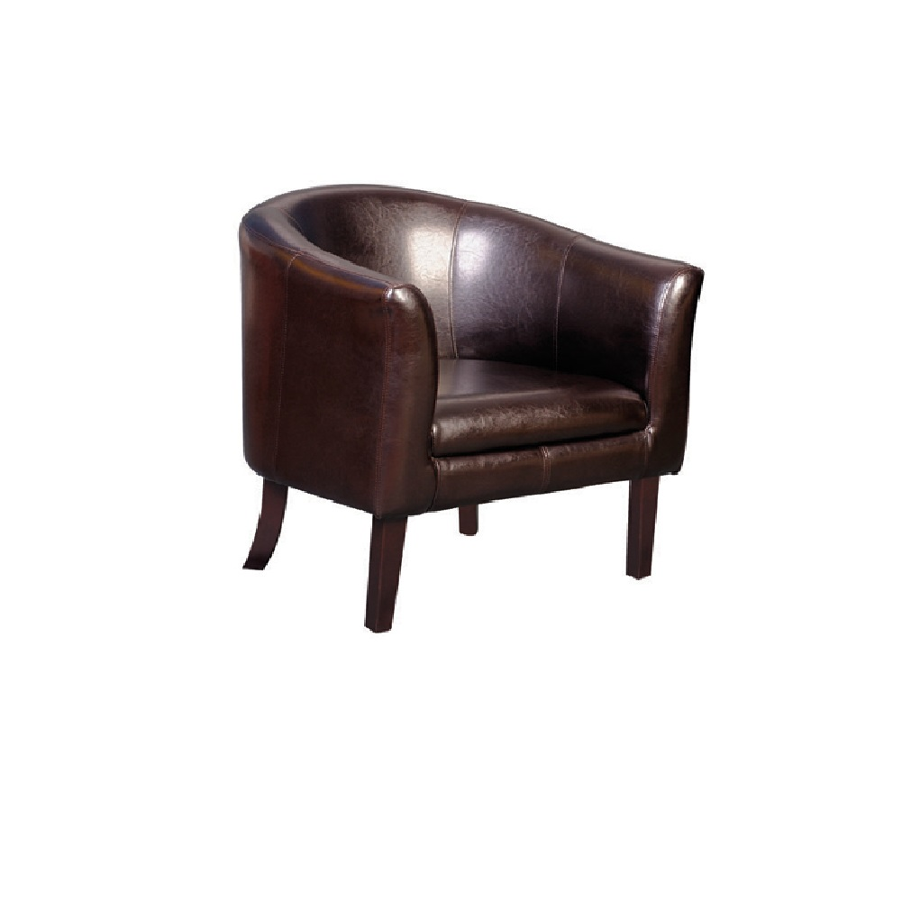 6017A TUB CHAIR CHOCOLATE BROWN