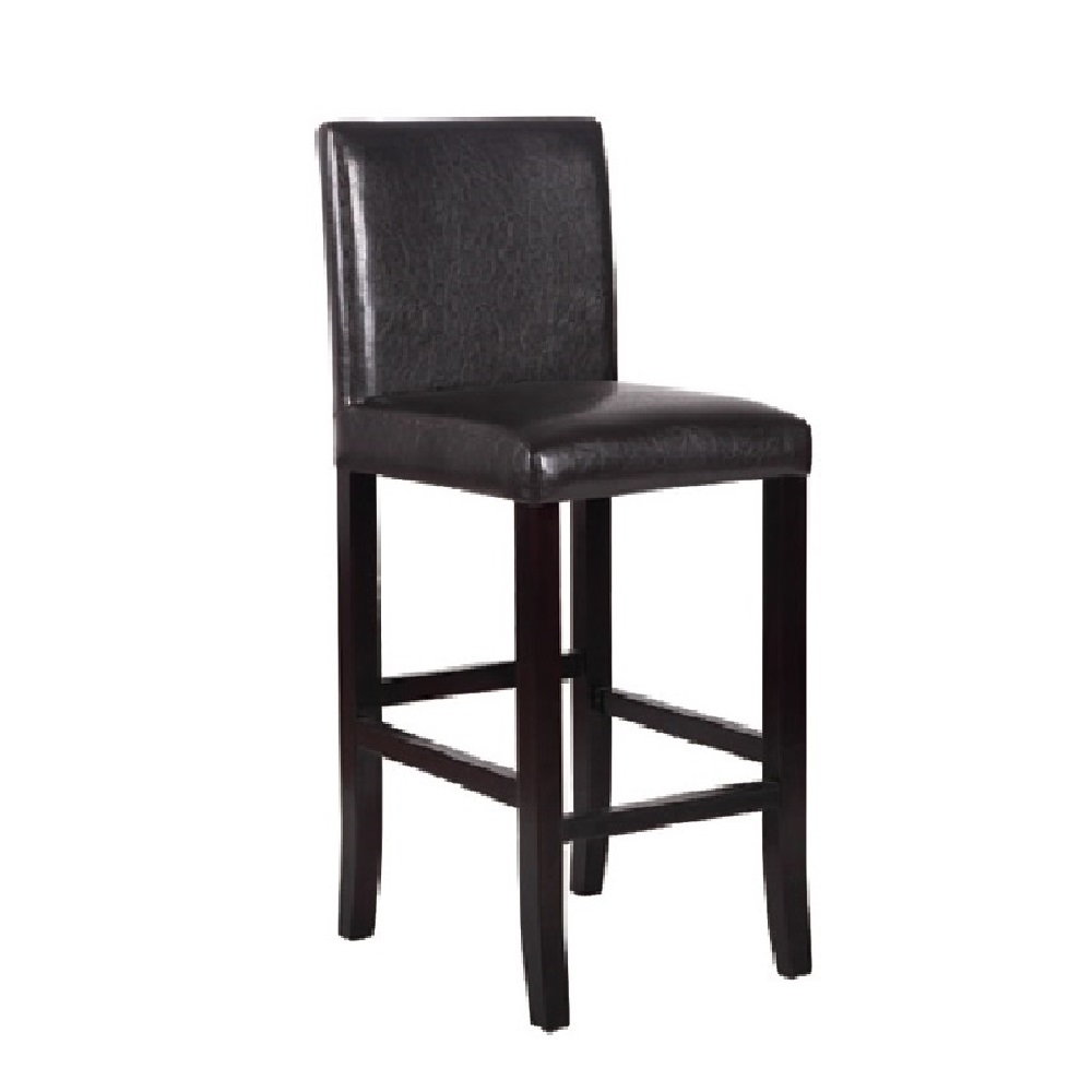 RESTAURANT CHOCOLATE BROWN LEATHER BAR STOOL 8015L