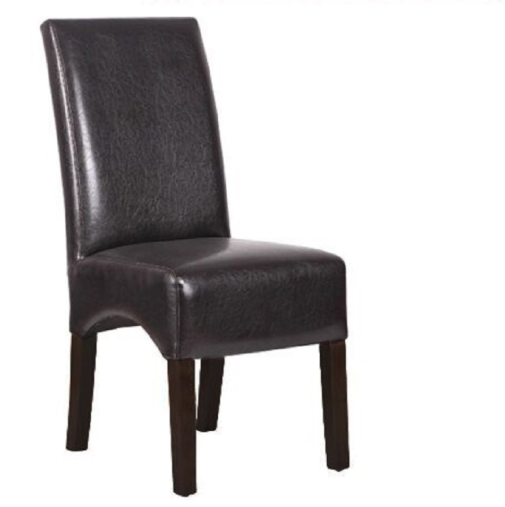 RESTAURANT DINING CHAIRCHOCOLATE BROWN LEATHER 8026