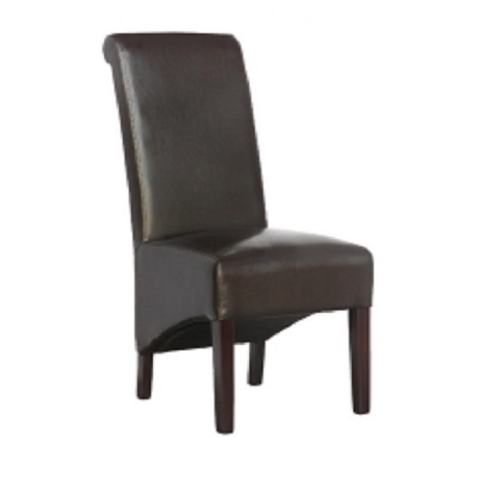 RESTAURANT DINING CHAIR CHOCOLATE BROWN LEATHER 8053