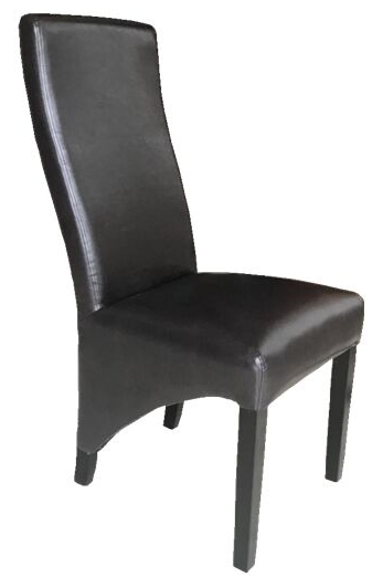 CHOCOLATE BROWN LEATHER DINING CHAIR 8125