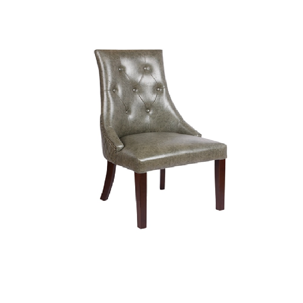 8302A LEATHER BUTTON BACK DINING CHAIR