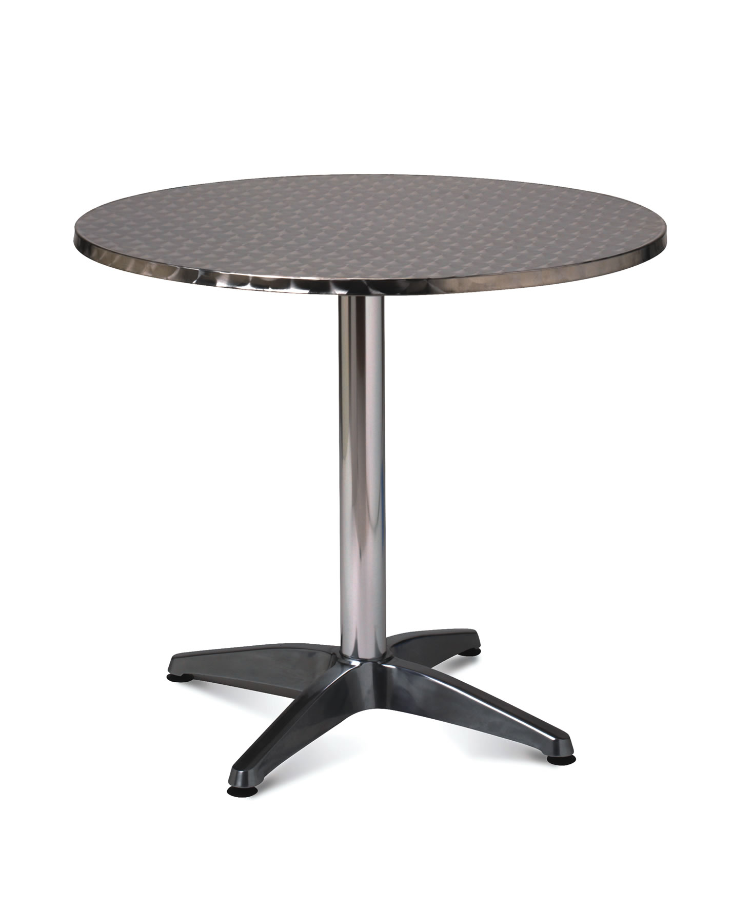 1896 ALUMINIUM ROUND DINING TABLE 80CM