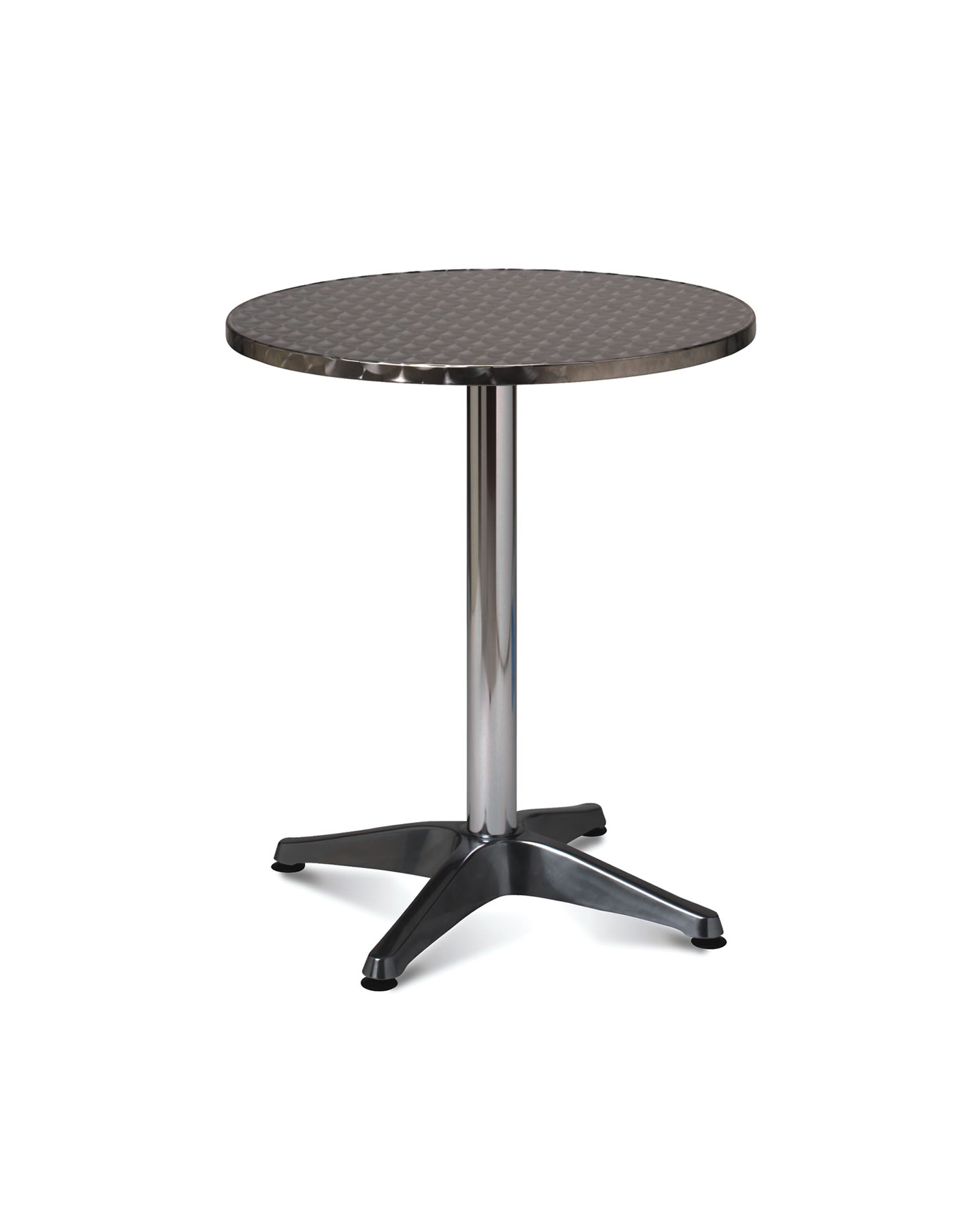 1898 ALUMINIUM ROUND TABLE 60CM