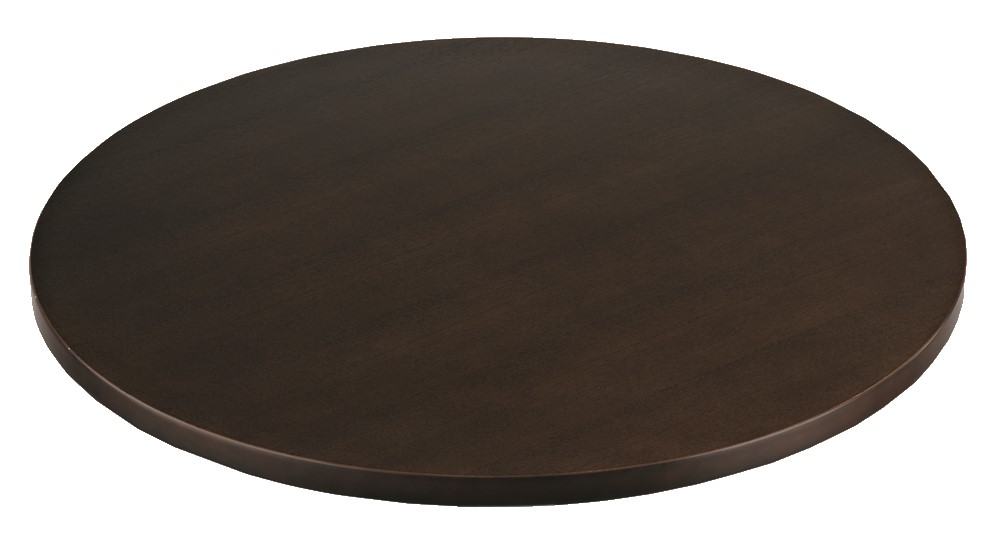 2033 - ASH VENEER WALNUT ROUND TABLE TOP