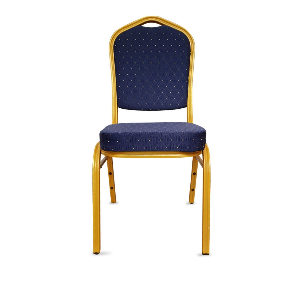 BANQUETING CHAIRS STEEL FRAME BLUE / GOLD 2526