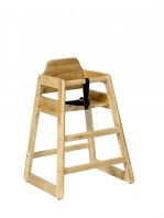 1900 SOLID RUBBERWOOD STACKABLE HIGHCHAIR