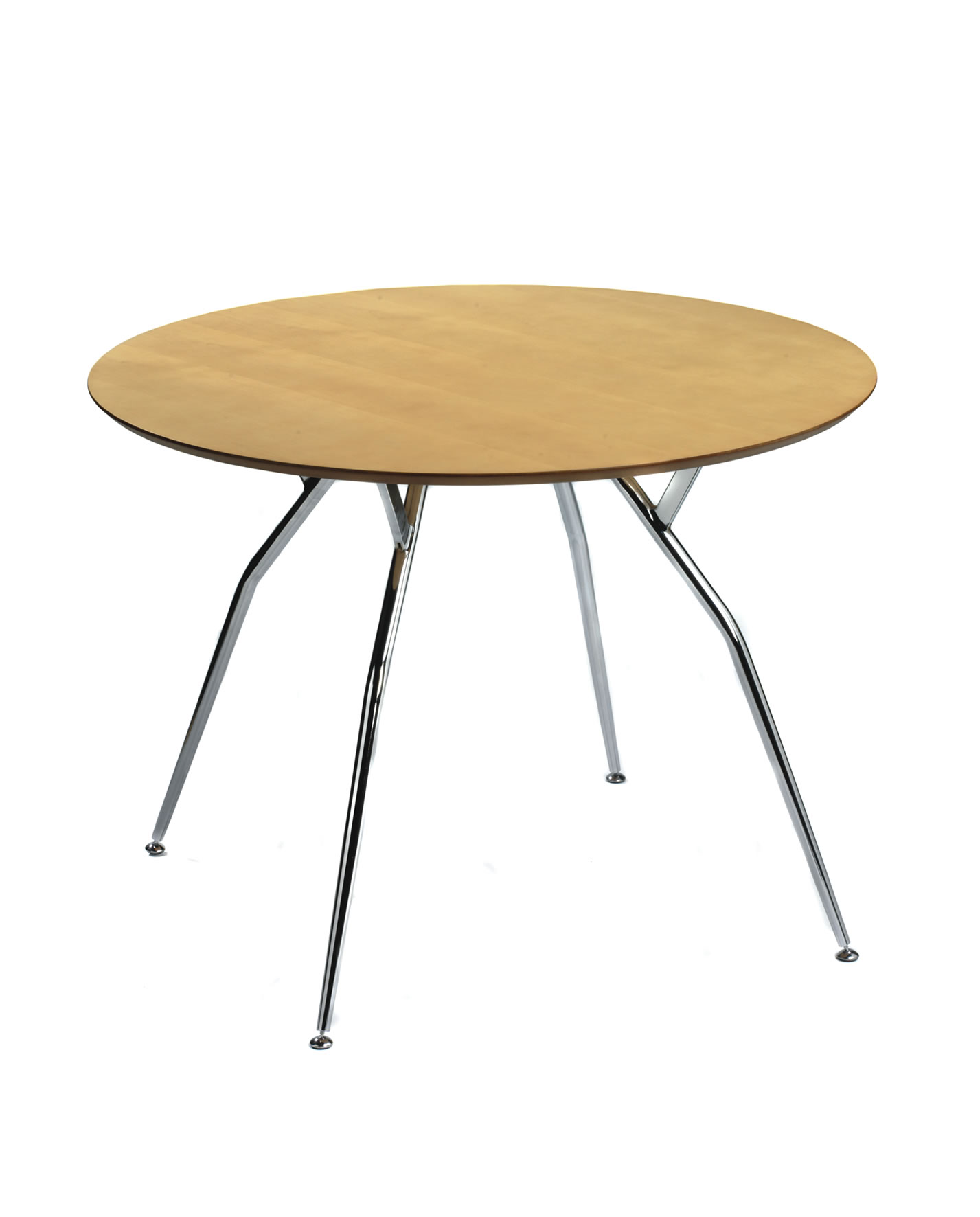1887 CAFE LARGE ROUND TABLE WITH METAL LEGS