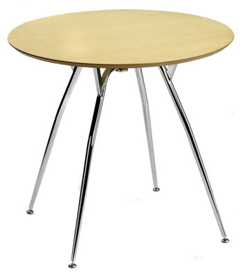 1888 CAFE SMALL ROUND TABLE WITH METAL LEGS