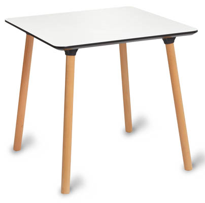 1891 CAFE SQUARE TABLE WOODEN LEGS