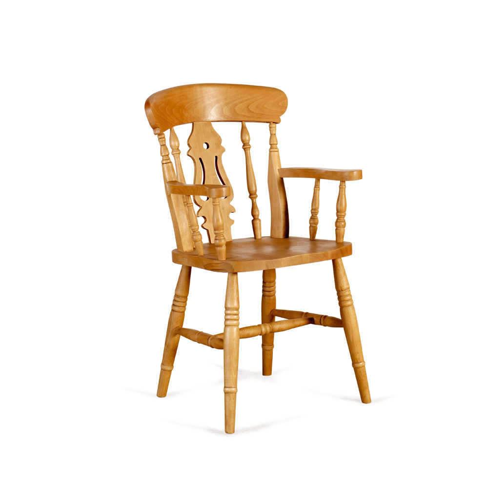 PUB CHAIRS FARMHOUSE CARVER FIDDLE CHAIR