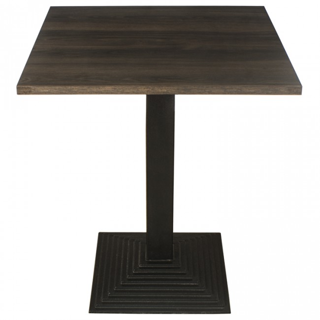 3414 DARK OAK TWO SEATER COMPLETE TABLE AND STEP BASE