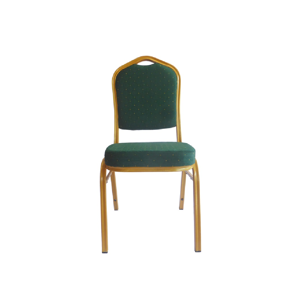 BANQUETING CHAIRS STEEL FRAME GREEN / GOLD 2526