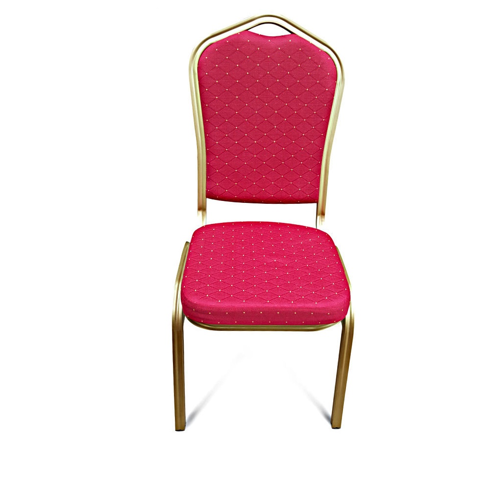 BANQUETING CHAIRS STEEL FRAME RED / GOLD 2526