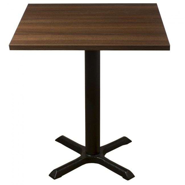 3417 - WALNUT TWO SEATER COMPLETE TABLE AND BASE