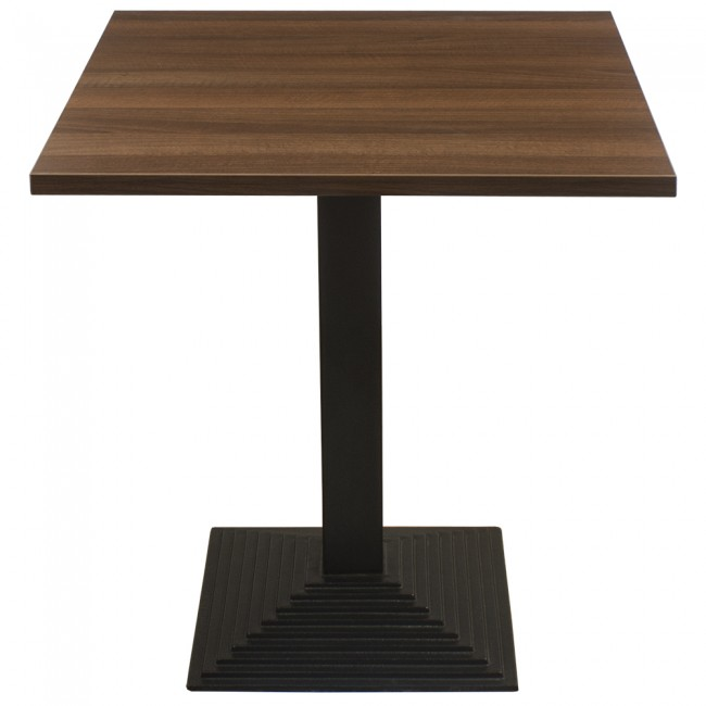 3418 - WALNUT TWO SEATER COMPLETE TABLE AND STEP BASE