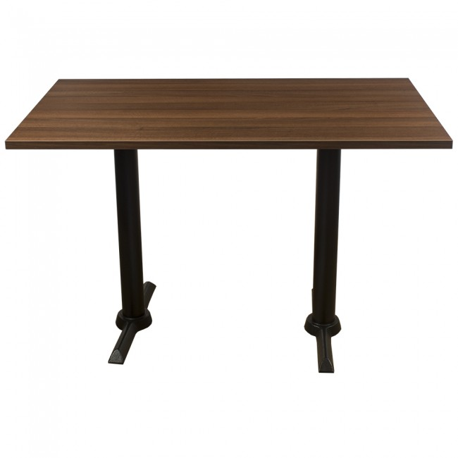 3416 - WALNUT FOUR SEATER COMPLETE TABLE AND BASE
