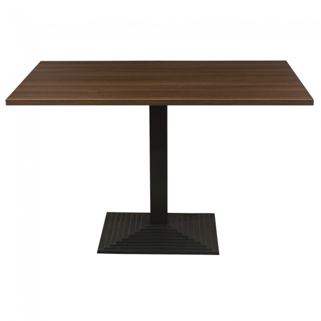 3419 - WALNUT FOUR SEATER COMPLETE TABLE AND STEP BASE