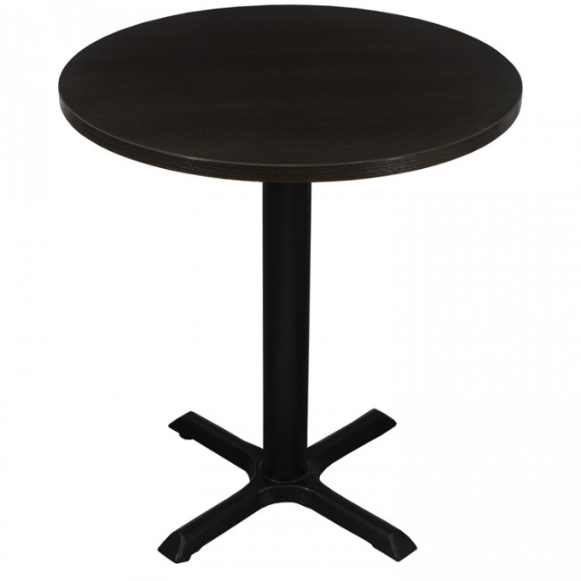 3410 - WENGE ROUND TWO SEATER COMPLETE TABLE AND BASE
