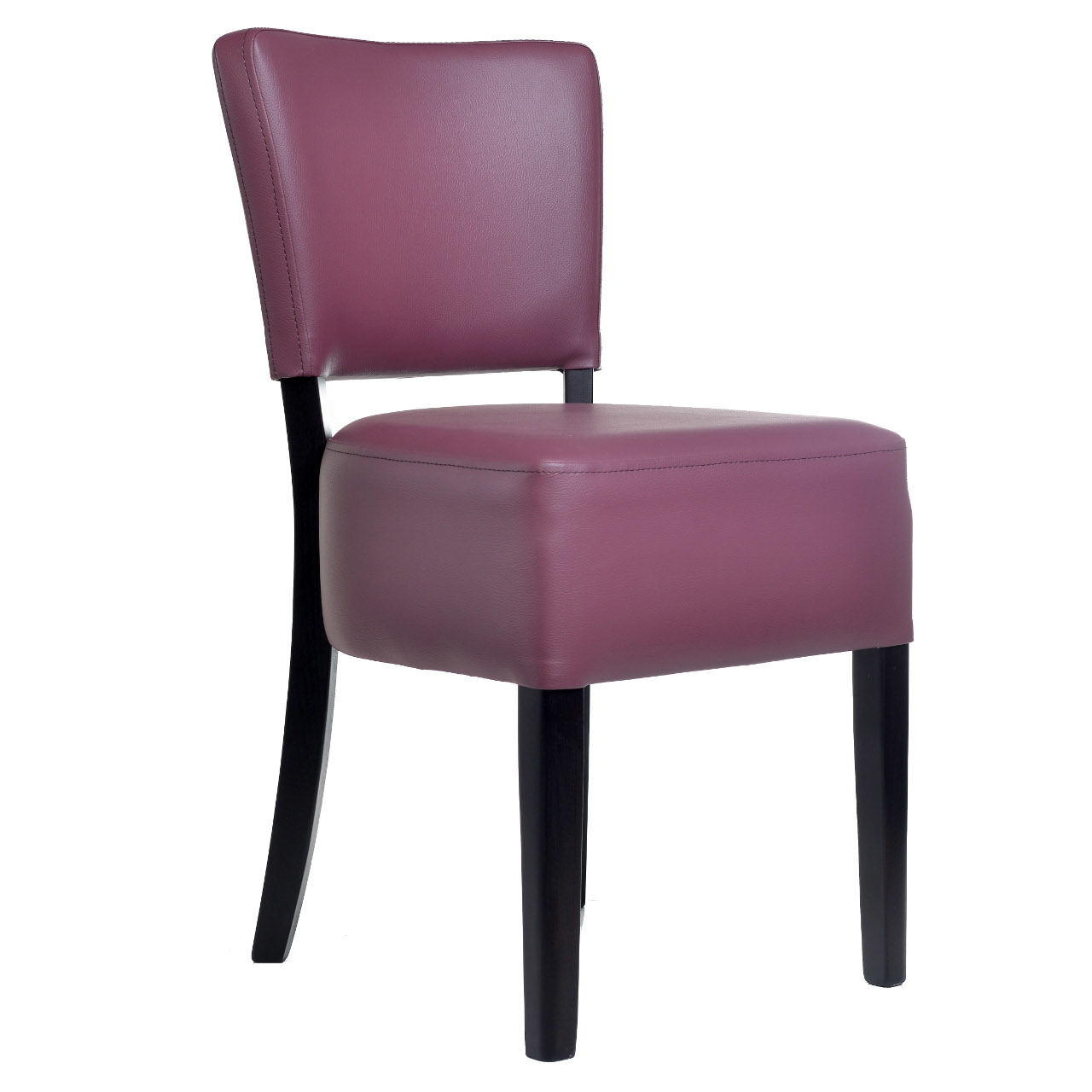 1970 SIDE CHAIR SOLID HARDWOOD RESTAURANT CHAIRS PLUM